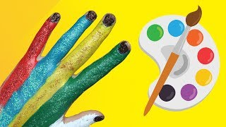 Learn Colors Hand Body Painting Finger Family Song Nursery Rhymes Learning Videos for Kids