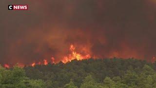 Grèce : plus de 180 pompiers mobilisés pour combattre un énorme incendie