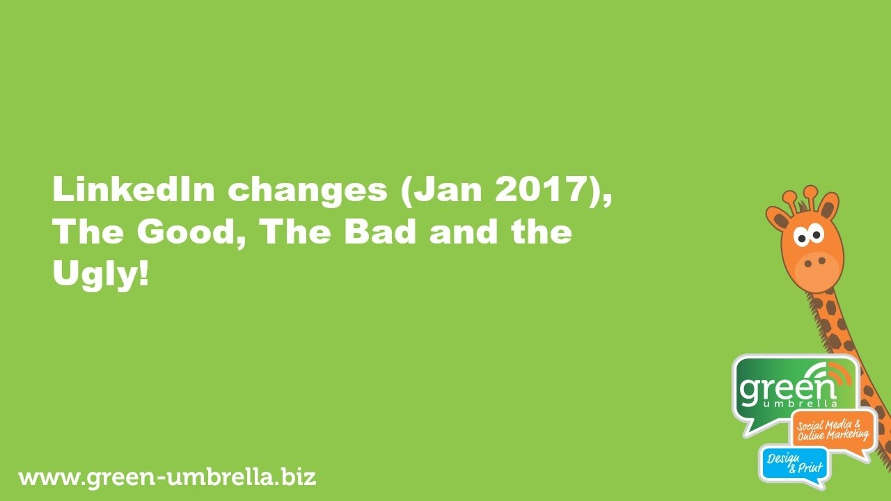 LinkedIn Changes, the Good, The Bad and the Down Right Ugly!