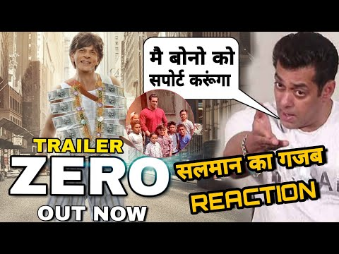"Zero Trailer Salman Khan Reaction on Zero Trailer Salman Promotes ""Zero"" In Special Way,"