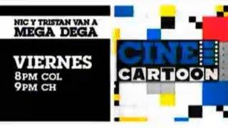 """Cartoon Network LA: Cine Cartoon [Promo - Estreno """"Nic y Tristan van a Mega Dega""""]"""