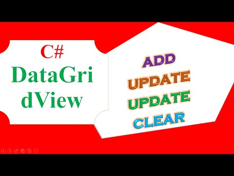 C# DataGridView -  ADD,UPDATE,DELETE,CLEAR