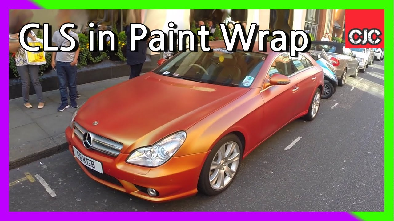 Mercedes Benz Cls Cl Covered In Satin Orange Silicon Based Paint Wrap