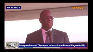 Inauguration de l'Aéroport International Blaise Diagne (AIBD)
