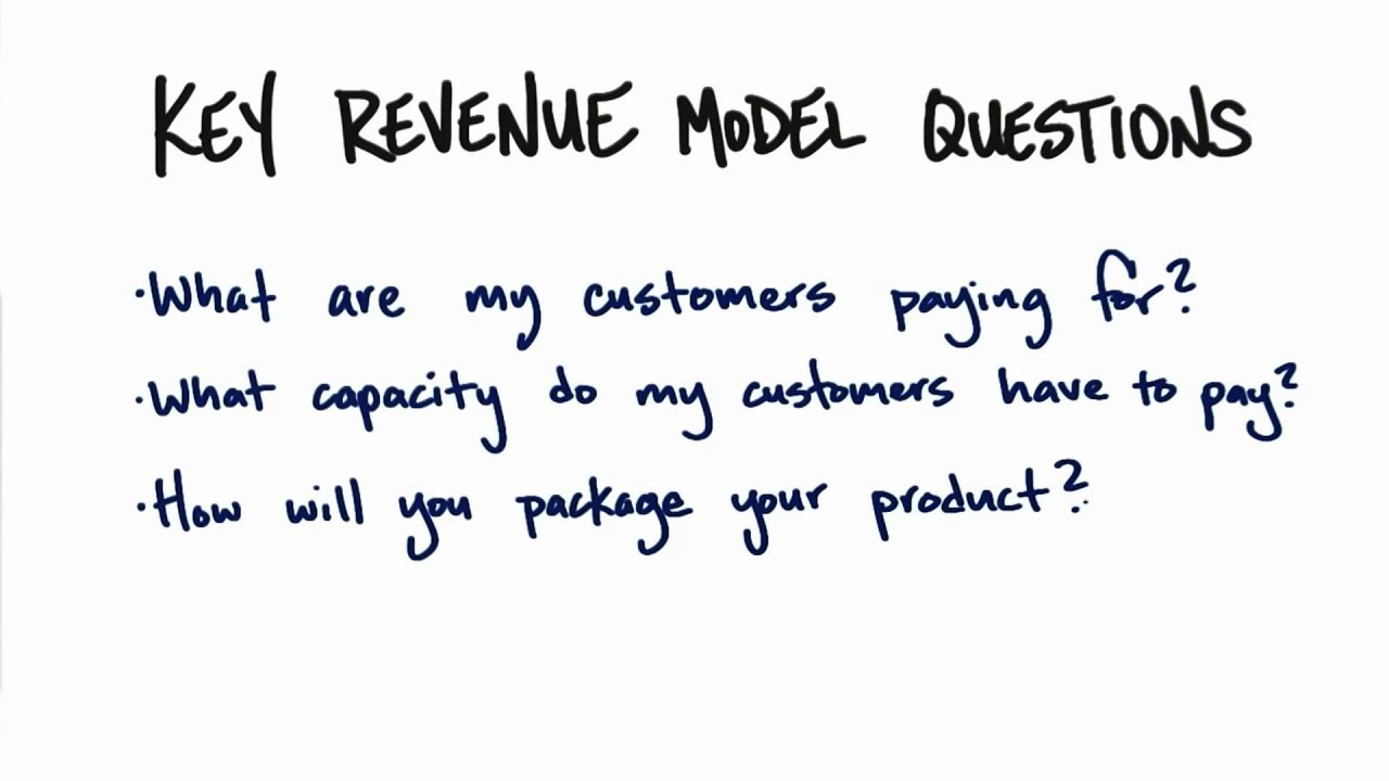 Key Revenue Model Questions - How to Build a Startup