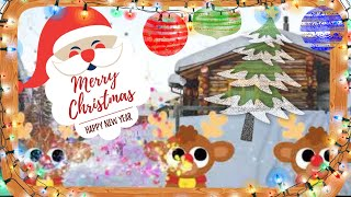 We Wish You a Merry Christmas | Funny Kids Christmas Cartoon | Santa Clause and Rudolph Cute Video