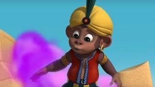 Английский язык для малышей - Мяу-Мяу - Джин из лампы (Magical Genie) - учим английские слова