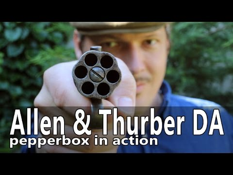 Firing the Allen & Thurber 32 cal pepperbox revolver
