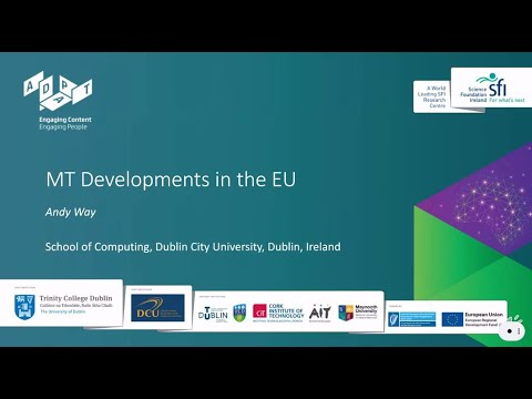 Andy Way: MT Development in the EU