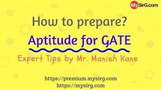 LIVE How to prepare aptitude for GATE? MySirG.com