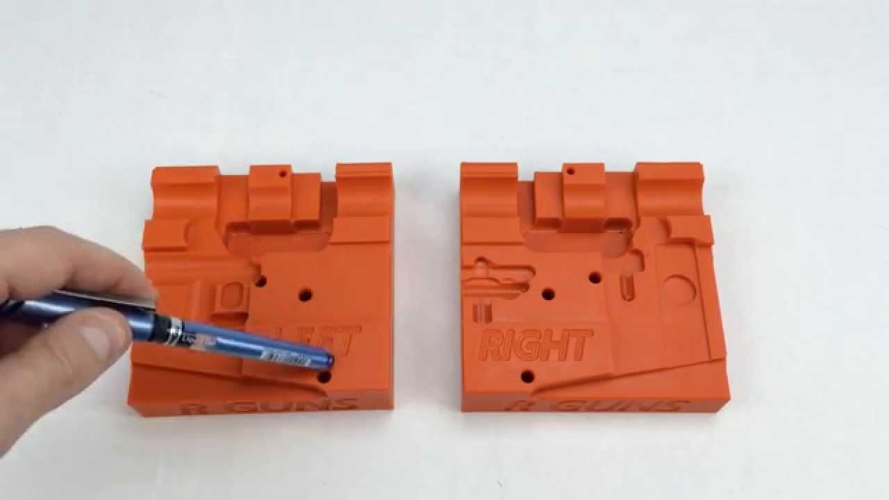 R Guns AR15 lower receiver / barrel assembly block