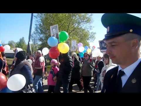 Бессмертный полк рп Русская Поляна Омская область