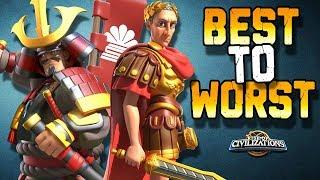 BEST Commander Tier List | Rise of Civilizations