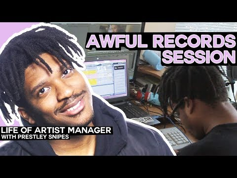 Awful Records Session Life of Artist Manager