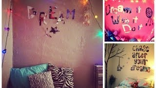 Diy Room Decor Tumblr Inspired Bedroom Quotes Youtube