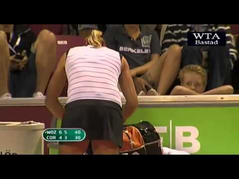 Thumbnail: Bastad 2011 Alizé's Kornet mobile phone rings on match point for Caroline Wozniacki