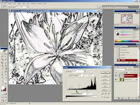 Фотошоп - Создание акварельного рисунка из фотографии.
