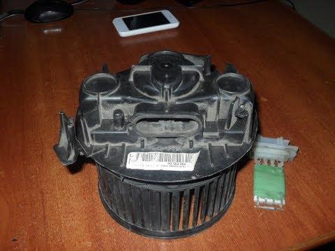 Как поменять вентилятор печки на логане 2006года
