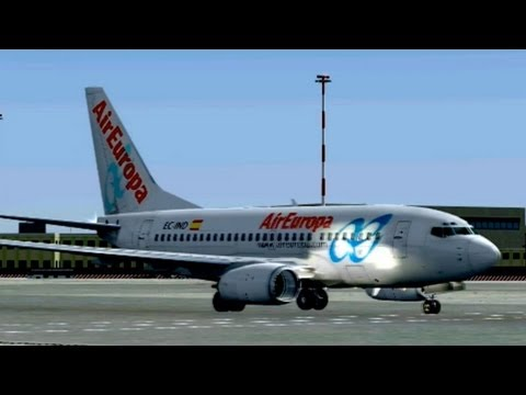 AIREUROPA B736 TAKEOFF FROM ROME!!