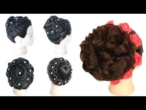 5 selected beautiful bridal bun hairstyles || wedding hairstyles | bridal hairstyle | juda hairstyle thumbnail