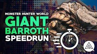 Monster Hunter World | Giant Barroth Challenge Quest Speedrun