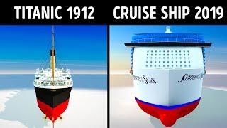 Titanic VS Modern Cruise Ships
