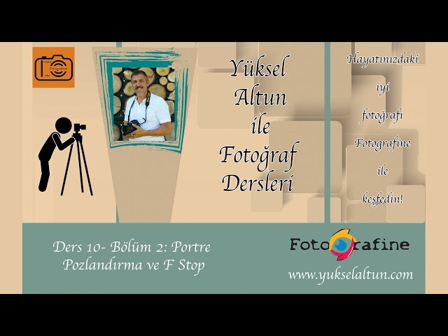 E-Fotografine - Temel Fotoğraf Semineri - Ders 10 - B2 - Portre: Pozlandırma / Exposure in Portrait