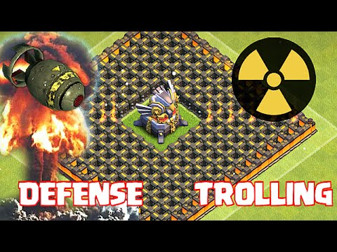 Clash Of Clans - EAGLE ARTILLERY TROLL BASE!! (Can't Touch This!!)