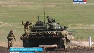 Танковый биатлон на чебаркульском полигоне