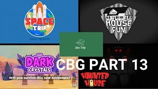 Space Trip, Haunted House, Funhouse, Route 66 (PT 2), Zoo Trip. (ROBLOX CBG) Part 13
