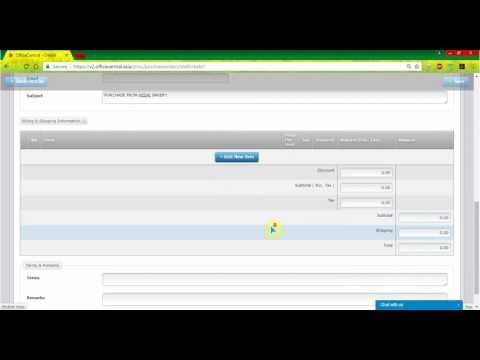 OfficeCentral: How to Add Purchase Order in Procurement
