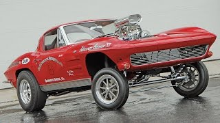 #55. Chevrolet Corvette Gasser 1963 (RETROCAR)(TUNING RETRO CAR THE BEST TOP GEAR