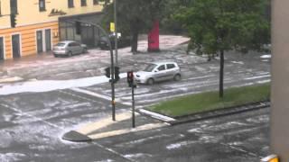 Extremes Unwetter in Berlin & Hagelsturm  - high quality HD