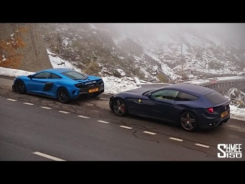 675LT and FF TOGETHER! Driving through Snowy Mountains