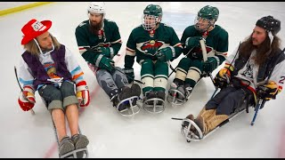 PLAYING SLED HOCKEY FOR THE FIRST TIME....