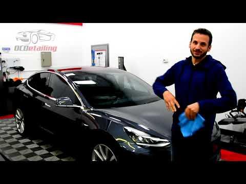 Tesla Model 3 - Midnight Silver Metallic - 3M Crystalline Window Tint - OCDetailing®