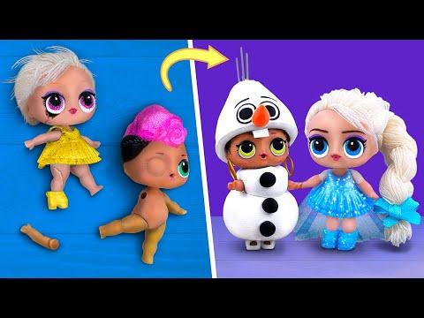 Nunca Eres Grande Para Las Muecas! 10 Diys Para Muecas Lol Surprise De Frozen