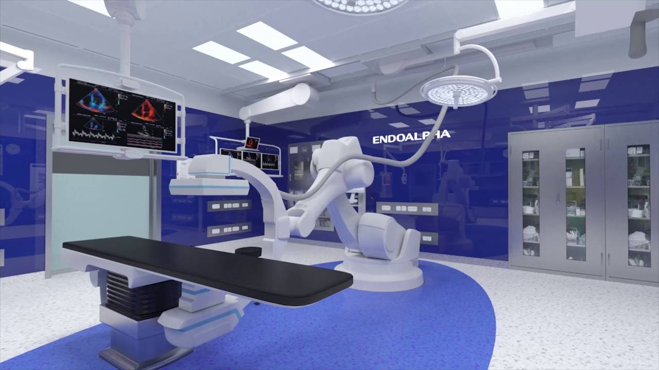 Endoalpha Hybrid Operating Room 3d Render Youtube
