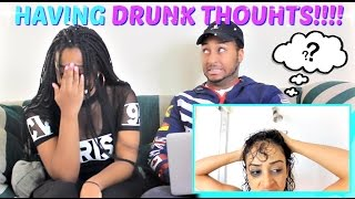 MY FIRST TIME!! NAKED DRUNK THOUGHTS! by Liza Koshy REACTION!!!