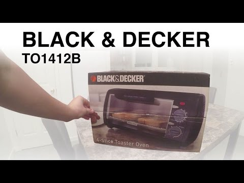 Black & Decker TO1412B Toaster Oven Unboxing and Review