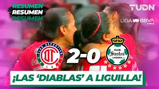Resumen y Goles | Toluca Femenil 2 - 0 Santos Femenil | Liga MX Femenil - AP 2019  - J 19 | TUDN