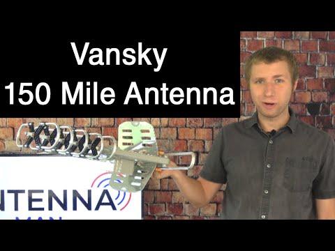 Vansky 150 Mile Amplified Outdoor HD TV Antenna Review