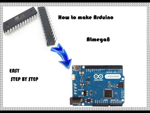 How To Program An ATmega8 For Using As Arduino.