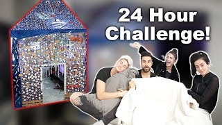 OVERNIGHT CHALLENGE IN THE GINGERBREAD HOUSE!!! W/ MARK DOHNER