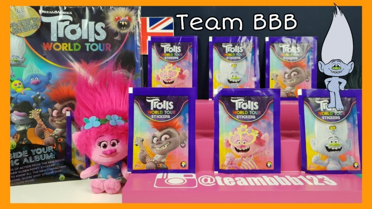 DREAMWORKS TROLLS WORLD TOUR STICKERS TOPPS 2020 NUMBER 14