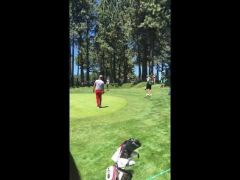 Justin Timberlake American Century Golf Tournament 2016 - Making A Birdie