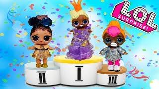 Куклы ЛОЛ Сюрприз КОНКУРС КРАСОТЫ Видео для детей Игрушки LOL Surprise Dolls Мультики для девочек