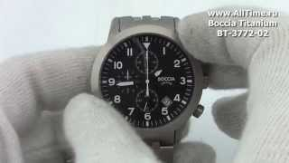 Обзор. Мужские наручные часы Boccia Titanium BT-3772-02