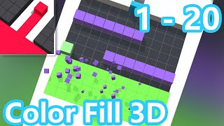 Color Fill 3D Walkthrough All Levels 1 - 10
