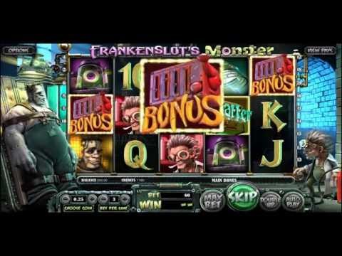 FRANKENSLOT`S MONSTER +BIG WIN! +BONUS GAME! online free slot SLOTSCOCKTAIL betsoft